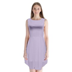Pastel Color   Light Violetish Gray Sleeveless Chiffon Dress
