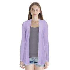 Pastel Color - Light Violetish Gray Cardigans