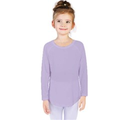 Pastel Color   Light Violetish Gray Kids  Long Sleeve Tee
