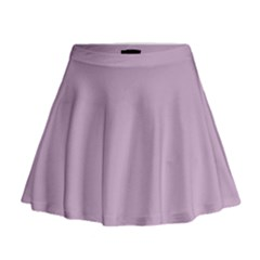 Pastel Color   Magentaish Gray Mini Flare Skirt