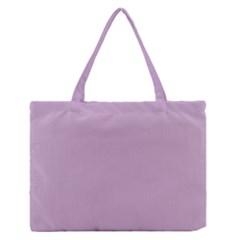 Pastel Color   Magentaish Gray Medium Zipper Tote Bag
