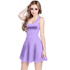 Pastel Color - Pale Blue Violet Reversible Sleeveless Dress