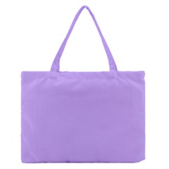 Pastel Color   Pale Blue Violet Medium Zipper Tote Bag