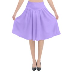 Pastel Color   Pale Blue Violet Flared Midi Skirt