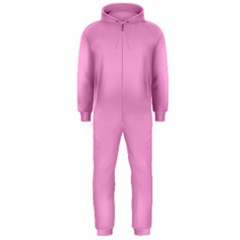 Pastel Color - Pale Cerise Hooded Jumpsuit (Men)