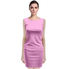 Pastel Color   Pale Cerise Classic Sleeveless Midi Dress