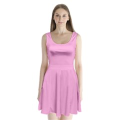 Pastel Color   Pale Cerise Split Back Mini Dress