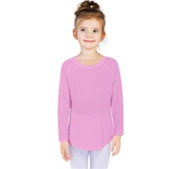 Pastel Color   Pale Cerise Kids  Long Sleeve Tee