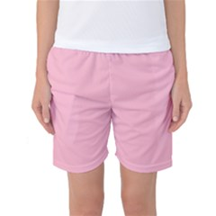 Pastel Color - Pale Crimson Women s Basketball Shorts