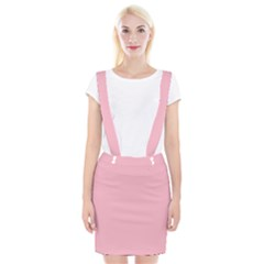 Pastel Color   Pale Crimson Braces Suspender Skirt