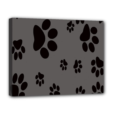 Dog Foodprint Paw Prints Seamless Background And Pattern Canvas 14  x 11