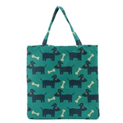 Happy Dogs Animals Pattern Grocery Tote Bag