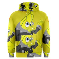 Funny Cartoon Punk Banana Illustration Men s Pullover Hoodie