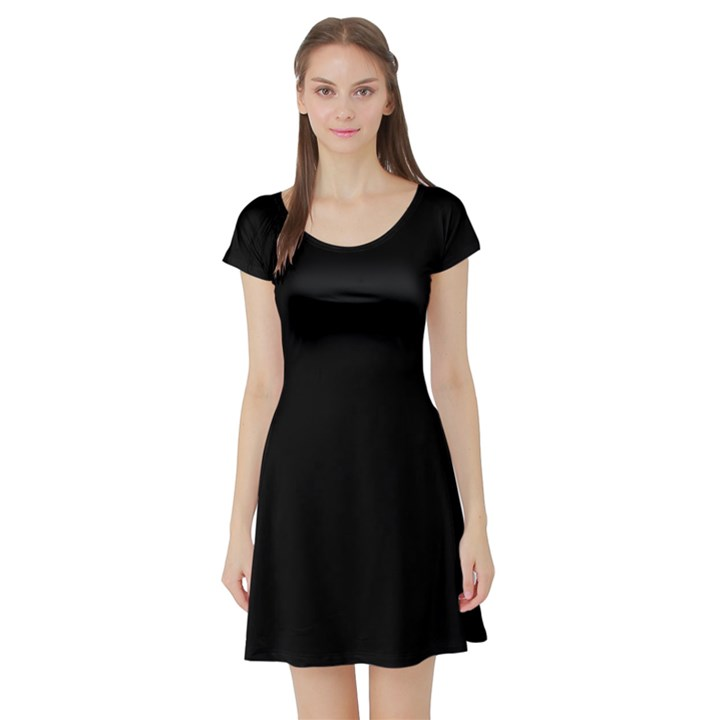 Black Gothic Short Sleeve Skater Dress