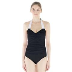 Black Gothic Halter Swimsuit