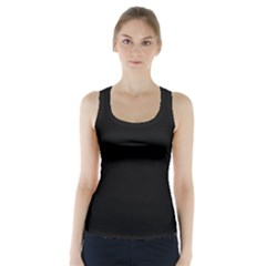 Black Gothic Racer Back Sports Top