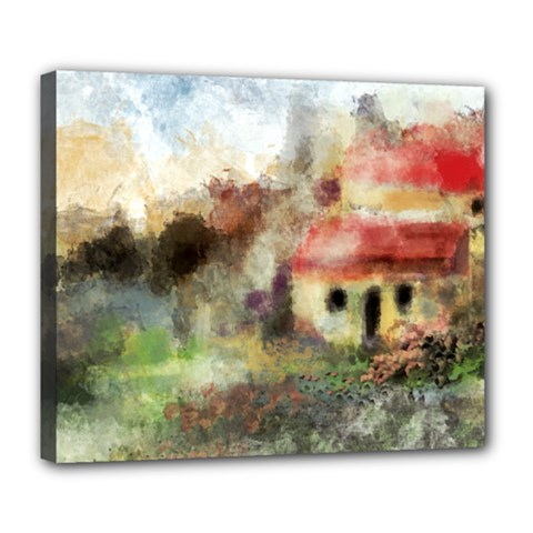 Old Spanish Village Deluxe Canvas 24  x 20