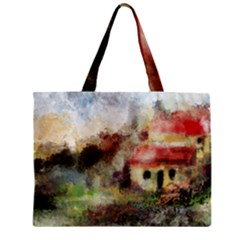 Old Spanish Village Zipper Mini Tote Bag