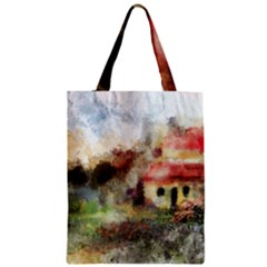 Old Spanish Village Zipper Classic Tote Bag