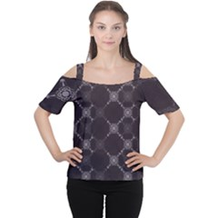 Abstract Seamless Pattern Background Women s Cutout Shoulder Tee