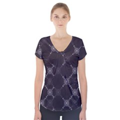Abstract Seamless Pattern Background Short Sleeve Front Detail Top