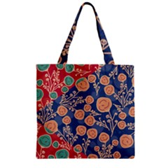Floral Seamless Pattern Vector Texture Zipper Grocery Tote Bag