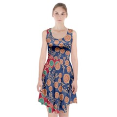 Floral Seamless Pattern Vector Texture Racerback Midi Dress