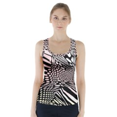 Abstract Fauna Pattern When Zebra And Giraffe Melt Together Racer Back Sports Top