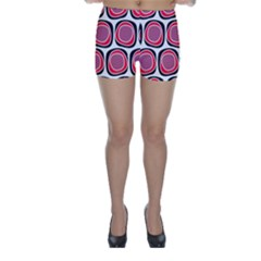 Wheel Stones Pink Pattern Abstract Background Skinny Shorts