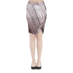 Vintage Pattern Background Wallpaper Midi Wrap Pencil Skirt