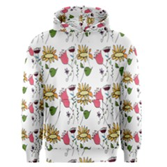 Handmade Pattern With Crazy Flowers Men s Pullover Hoodie