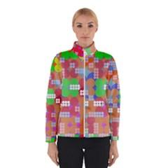 Abstract Polka Dot Pattern Winterwear