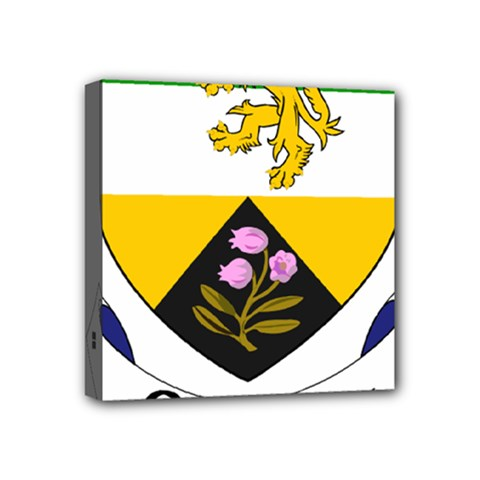 County Offaly Coat of Arms  Mini Canvas 4  x 4
