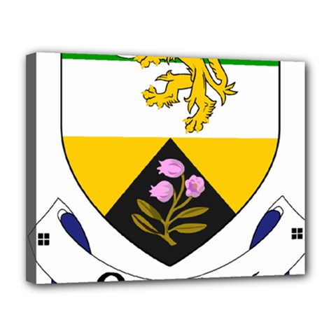 County Offaly Coat of Arms  Canvas 14  x 11