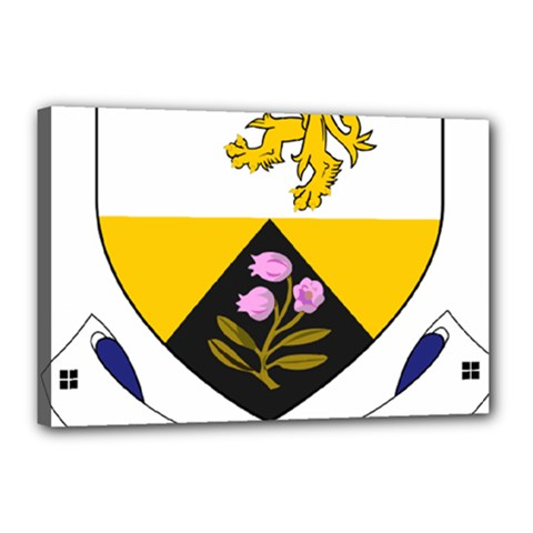 County Offaly Coat of Arms  Canvas 18  x 12