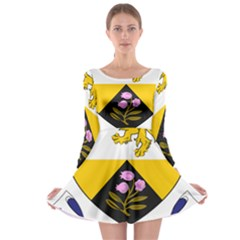 County Offaly Coat of Arms  Long Sleeve Skater Dress