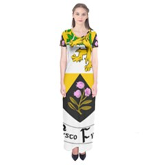 County Offaly Coat of Arms  Short Sleeve Maxi Dress