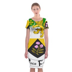 County Offaly Coat of Arms  Classic Short Sleeve Midi Dress