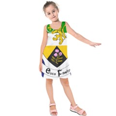 County Offaly Coat Of Arms  Kids  Sleeveless Dress