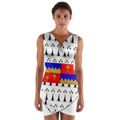 County Tipperary Coat of Arms  Wrap Front Bodycon Dress