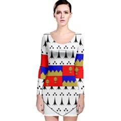 County Tipperary Coat of Arms  Long Sleeve Velvet Bodycon Dress
