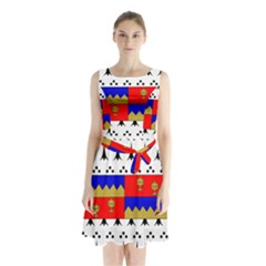 County Tipperary Coat of Arms  Sleeveless Waist Tie Chiffon Dress