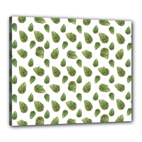 Leaves Motif Nature Pattern Canvas 24  x 20