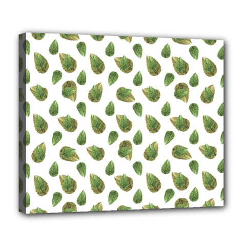 Leaves Motif Nature Pattern Deluxe Canvas 24  x 20