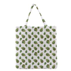 Leaves Motif Nature Pattern Grocery Tote Bag