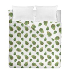 Leaves Motif Nature Pattern Duvet Cover Double Side (Full/ Double Size)
