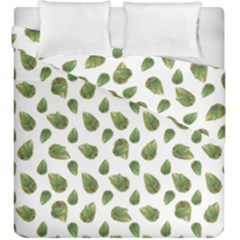 Leaves Motif Nature Pattern Duvet Cover Double Side (King Size)