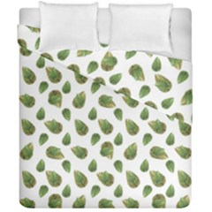 Leaves Motif Nature Pattern Duvet Cover Double Side (California King Size)