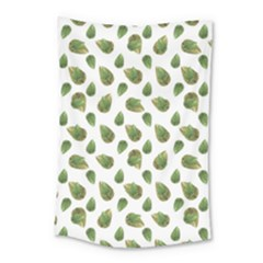 Leaves Motif Nature Pattern Small Tapestry