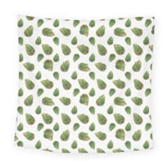 Leaves Motif Nature Pattern Square Tapestry (Large)